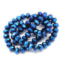 72 Dark Blue AB Color Faceted 12mm Crystal Glass Beads
